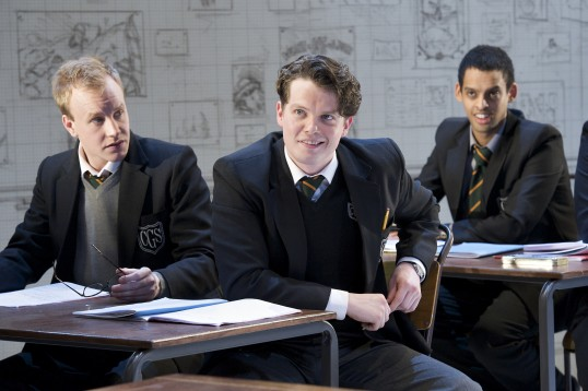 Rob Delaney, Kyle Redmond Jones and Tom Reed in The History Boys