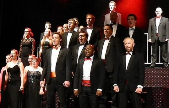 The chorus in Heroes, the title number and finale of 2012  Showcase. Photo: Ian Hunter