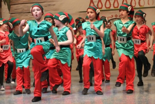 A scene from Christmastown! with members of the junior gang. Photo: Michael Walker