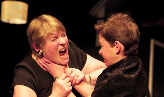 Wendy Mathison (Violet) and Helen Goldie (Barbara) in August: Osage County. Photo © Howard Elwyn-Jones.