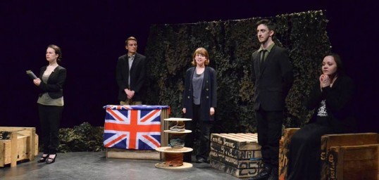 The Soldier Box company. Photo: One Shot Theatre