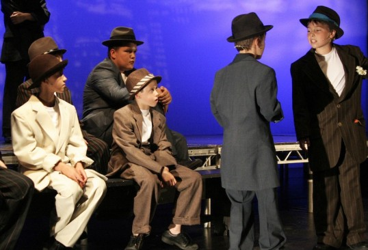 The young cast of Bugsy Malone. Photo: Captivate Drama
