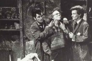 Gerard Kelly (left) and David Hayman (right) in the 1982 production of the Slab Boys 1982