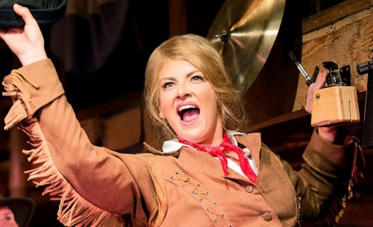 Jodie Prenger as Calamity Jane. Photo: Manuel Harlan