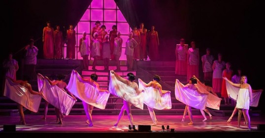 A scene from Limelight's production of Aida - the Musical. Photo: Martin Quinn