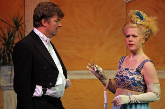 Brissard on the receiving end of Juliette's most withering remarks. Photo: Simon Boothroyd