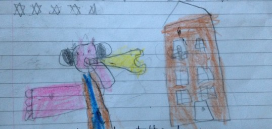 Jaime's picture of the BFG blowing dreams...