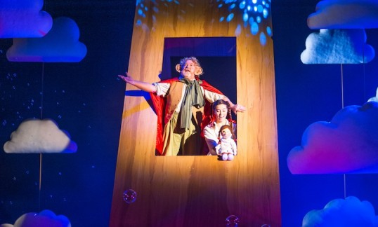 The land of dreams. Lewis Howden and Robyn Milne in the Lyceum's 2014 production of The BFG. Photo Tommy Ga-Ken Wan