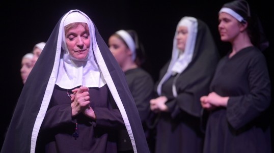 Dorothy Johnstone as the Mother Superior in the Bohemians' Sister Act. Photo: Phil Wilkinson