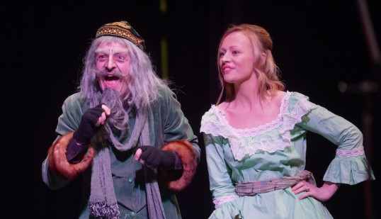 Charlie Monro (Fagin) and Claire Hughes (Bet) in Southern Light's Oliver! Photo: Phil Wilkinson
