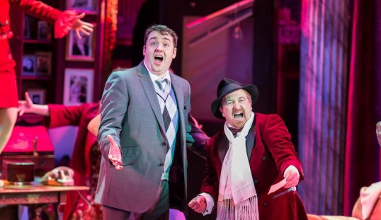 Jason Manford as Leo Bloom and Cory English as Max Bialystock. photo: Manuel Harlan