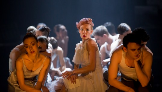 Eve Mutso as Blanche DuBois with Company dancers. Photo: Andy Ross