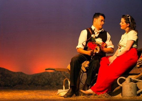Luperci de Sousa and Marie Claire Breen star in L'elisir d'amore. Photo: Vikki McCraw Photography