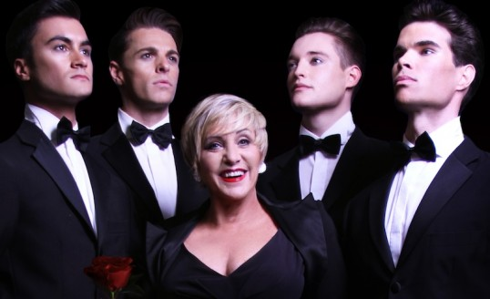 Lorna Luft and The Boyfriends - Luke Field Wright, Andrew Hamshire, Sam Stanley, Alec Mann. Photo: JGSB