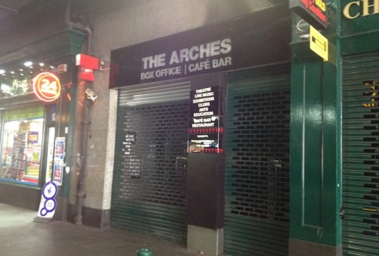 Argyle Street entrance to The Arches under Glasgow's Central Station. Photo: Thom Dibdin