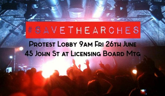 This is the place to be to support the Arches. Click image for facebook page and further details.