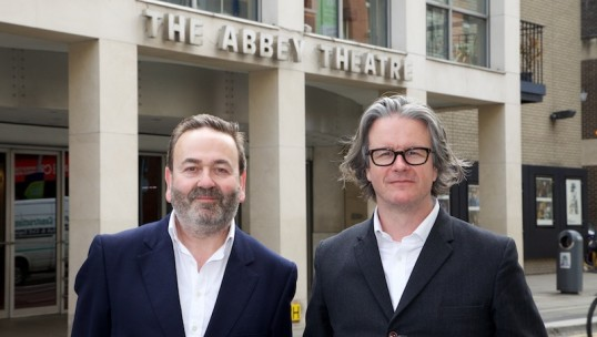 Neil Murray and Graham McLaren pictured in front of the Abbey Theatre, Dublin, where they will take over as directors in 2017. Photo: Lensmen Photography