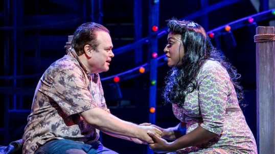 Shaun Williamson and Mica Paris. Photo: Johan Persson