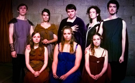 The Cast of Women of the Mourning Fields. Photo Aulos Productions