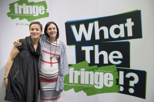 Kath M Mainland, fringe chief exec with  Bryony Kimmings. Photo: Jane Barlow