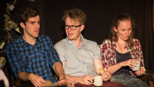 Philip Todd, Cameron Potts and Kirsty Geddes. Photo: Foolproof Theatre