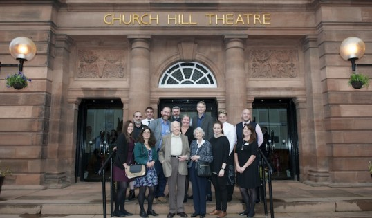 The Church Hill Theatre team and Cllr Richard Lewis with Christelle Steele and Deryk Gould. Photo: Jane Barlow