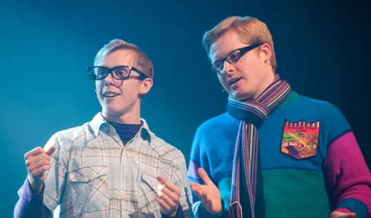 Matthew Cleator (Marvin Camden), Andrew Hally (Francis Weir) in Loserville. Photo Nicky Graham