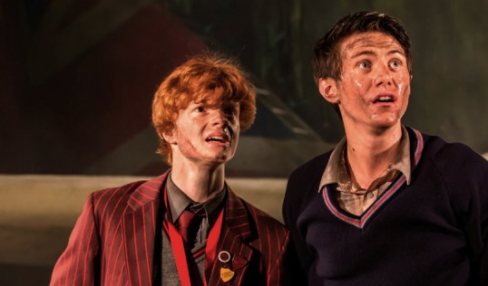 Freddie Wakins and Luke Ward-Wilkinson as Jack and Ralph. Photo: Johan Persson
