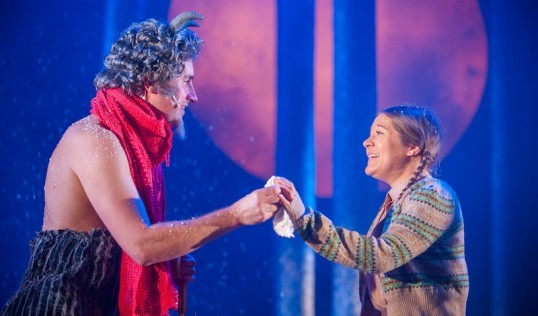 Ewan Donald (Mr Tumnus) Claire-Marie Sneddon ( Lucy). Photo: Tommy Ga Ken Wan