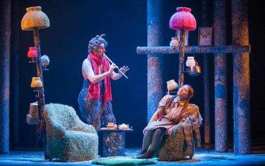 The Lion, The Witch and the Wardrobe at the Royal Lyceu.Ewan Donald and Claire-Marie Seddon as Mr Tumnus & Lucy. Photo Tommy Ga-Ken Wan