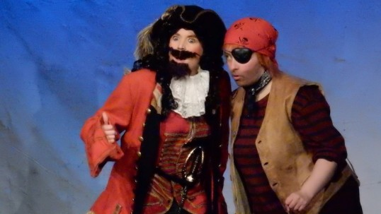 Vicki Horne (Blackbeard) and Fredericka Morrison (Patch). Photo Gordon Hughes