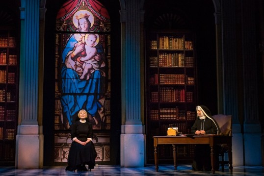 Lucy OByrne as Maria and Jan Hartley as Mother Abbess. Design by Gary McCann. Photo: Mark Yeoman