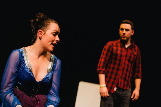 Sarah-Louise Cairney (Evie) and Adrian McDonald (Raul). Photo: Andrew Perry