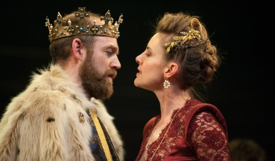 James III Matthew Pidgeon (James III) and Malin Crepin (Queen Margaret). Photo: Tommy Ga-Ken Wan