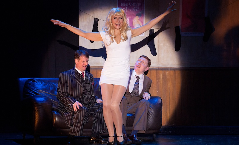 Henrietta Linnemann (Ulla) with Andrew McDade (Max) and Jerrard Doran (Leo). Photo: Alan Potter