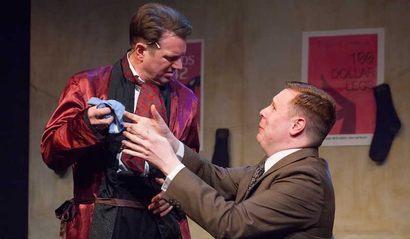 Andrew McDade (Max) and Gerrard Doran (Leo). Photo: Alan Potter