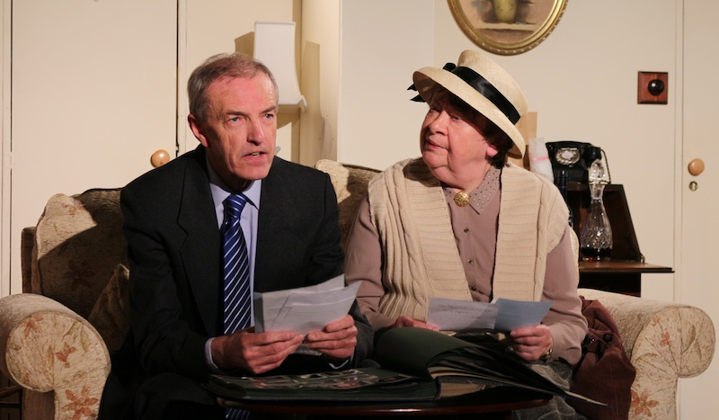 Murray Petrie (Inspector Craddock) and Ishbel Shand ( Miss Marple). Photo Sarah Howley