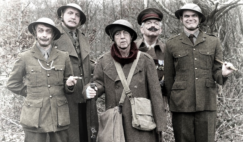 Blackadder, Darling, Baldrick, Melchett & George. Photo Mario McPherson/Kirsty Boyle