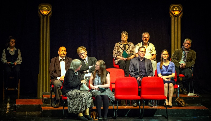 The cast of Audience. Photo Walter Hampson